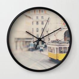 city trams ...  Wall Clock