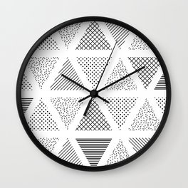 3. Patern in memphis, pop art style Wall Clock