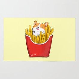 French Corgi Fries Rug
