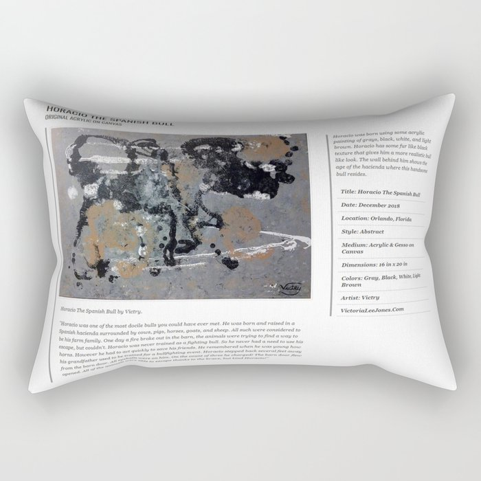 Horacio The Spanish Bull / Art Stories Rectangular Pillow