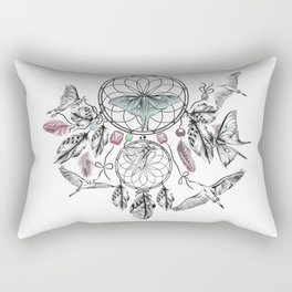 Dreamcatcher Feathers and Flutters Rectangular Pillow