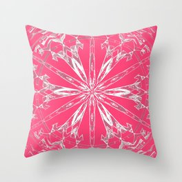 Ancient Star Geometric Imaginary Quilt Throw Pillow