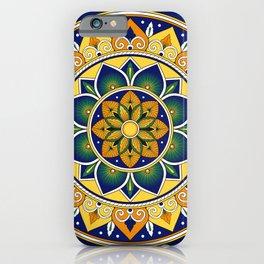 Italian Tile Pattern – Peacock motifs majolica from Deruta iPhone Case