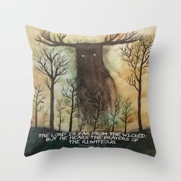 Far From the Wicked Throw Pillow