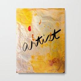 Artist's Paint Drop Cloth Metal Print