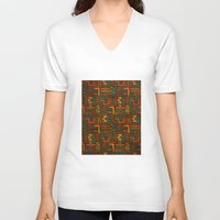 african V-neck T-shirts featuring African by Arcturus