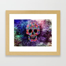 Happy skull Framed Art Print