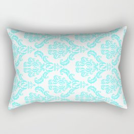 DAMASK AQUA BLUE Rectangular Pillow