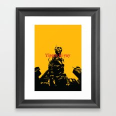 Yippee ki-yay Framed Art Print