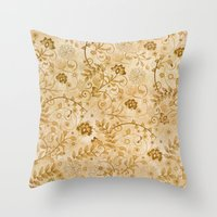 floral pattern Throw Pillows featuring Floral pattern by nicky2342