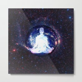 Meditation Light Body Metal Print