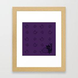 Blackberry Kitty Framed Art Print