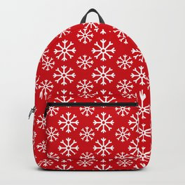 Winter Wonderland Snowflake Christmas Pattern Backpack