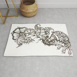 13. Paisley Henna Flower in the Wind Rug