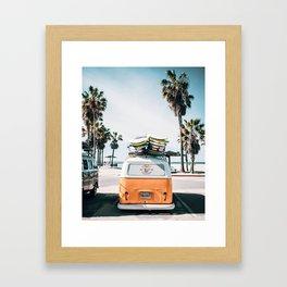 Surf Van Framed Art Print