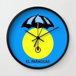 El Paraguas Loteria Mexican Pop Art Wall Clock