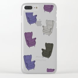 Seventies Armchair Pattern - Version 6 #society6 #seventies Clear iPhone Case