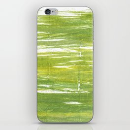 Moss green abstract watercolor iPhone Skin