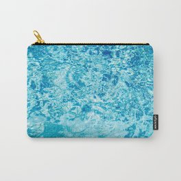 Crystal blue water creating an abstract pattern with waves and ripples Carry-All Pouch