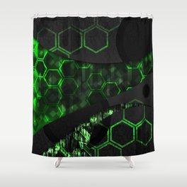 Digital Noise Shower Curtain