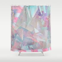 holographic Shower Curtains featuring Crystalline by Jevan Strudwick