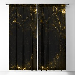 Black Gold Marble Blackout Curtain