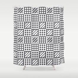 Billiplay Geometric Shower Curtain