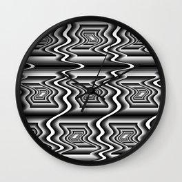 Grey Optical Pattern Wall Clock