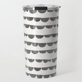 Original modern gray white watercolor scalloped  Travel Mug