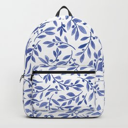 Leaves and Berries | Blue Palette Backpack