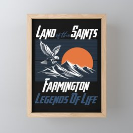 Land of the saints Farmington Legends of life mask Eagles Funny Framed Mini Art Print