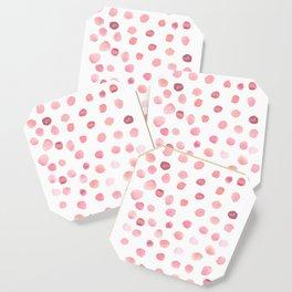Pink Polka Dots Coaster