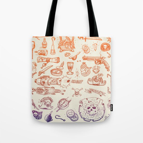 all hands on deck Tote Bag