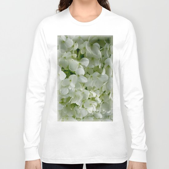 White Hydrangia Blossom Long Sleeve T-shirt