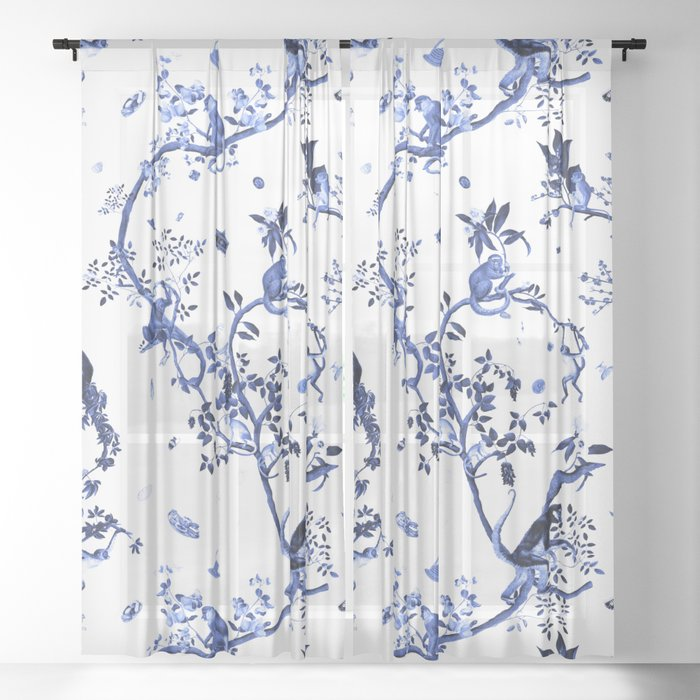 Monkey World Jouy Sheer Curtain