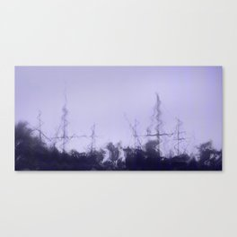 purple vessels Canvas Print