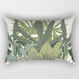 Just Botanicals - Tropical Plants Assemble Rectangular Pillow