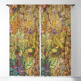 Floral Garden Blackout Curtain