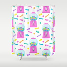 Pink Candy Dispenser – Rainbow Candy Shop Pattern Shower Curtain