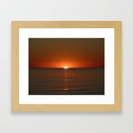 Michigan Sunset 4 Framed Art Print
