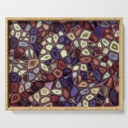 Fractal Gems 01 - Fall Vibrant Serving Tray