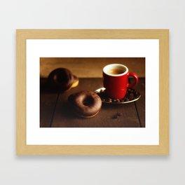 Fresh Donuts for coffee Framed Art Print
