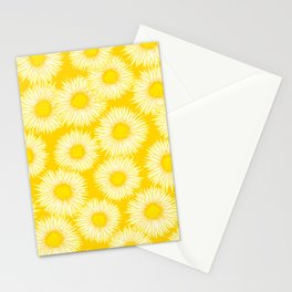 Yellow Sunflowers / Floral Pattern Stationery Cards