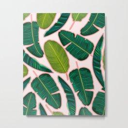 Banana Leaf Blush #society6 #decor #buyart Metal Print