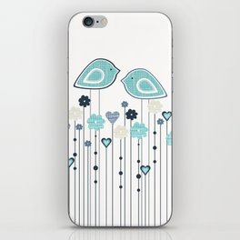 I heart birdies iPhone Skin