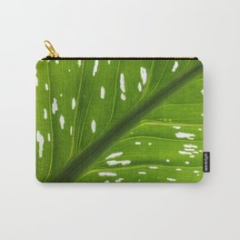 Spotted with White: Leaf Carry-All Pouch