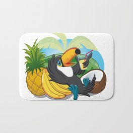Tropical toucan Bath Mat