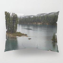 Landscape Photography Maligne Lake Island Pillow Sham
