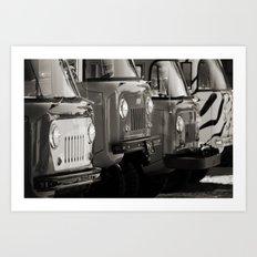 Forward Control Jeeps Art Print