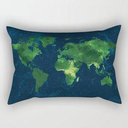 Nature World Map Rectangular Pillow
